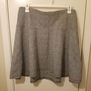 Torrid Houndstooth Plaid Gray Black Skater Skirt